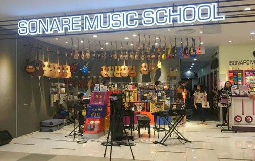 Sonare Music School at Compass One shopping centre in Singapore.