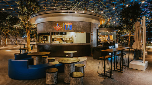 Tiger Street Lab bar & restaurant at Jewel Changi Airport mall in Singapore.