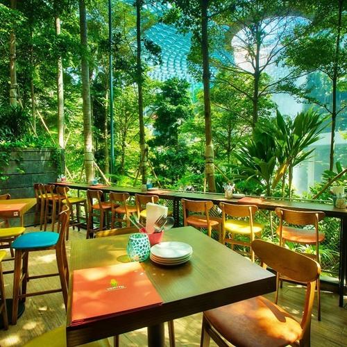 Tonito Latin American Kitchen restaurant at Jewel Changi Airport mall in Singapore.