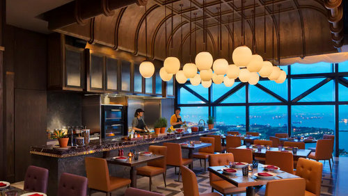 665°F steakhouse restaurant at Andaz Singapore hotel / DUO Galleria mall in Singapore.