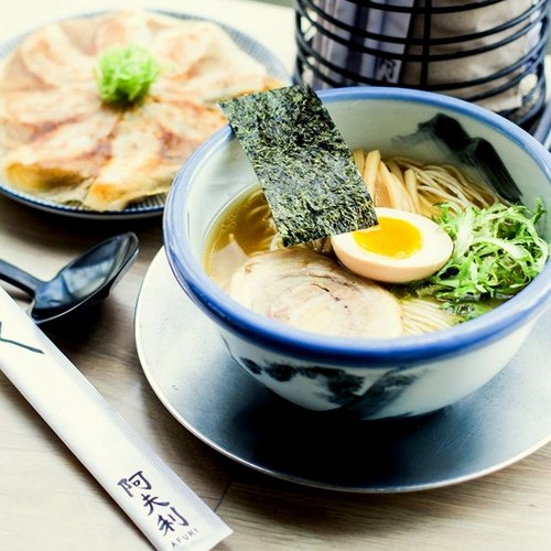 Afuri restaurant's ramen meal, available in Singapore.