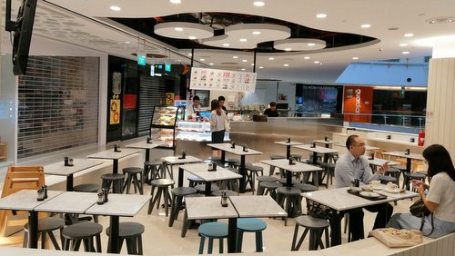 Ak Khoo Kopi Toast coffee shop at Eastpoint Mall in Singapore.