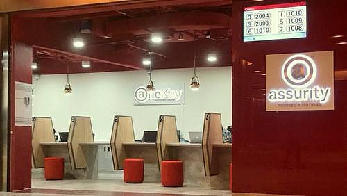 Assurity OneKey Customer Care Centre at DUO Galleria shopping centre in Singapore.