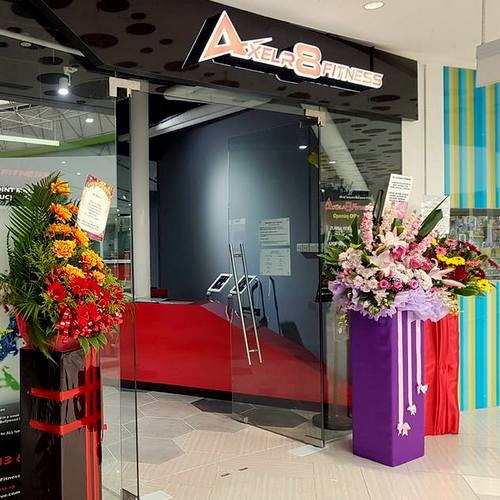 Axelr8 Fitness studio at Eastpoint Mall in Singapore.