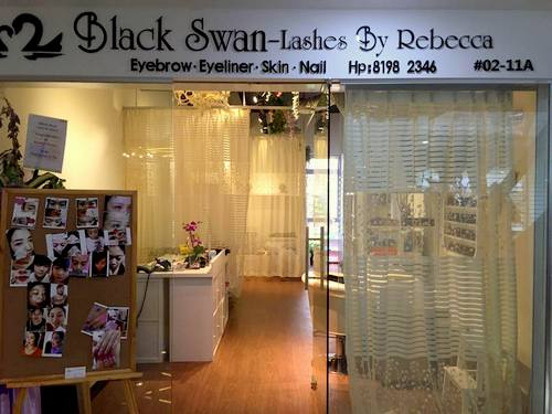 Black Swan - Lashes by Rebecca at Bugis Cube mall in Singapore.
