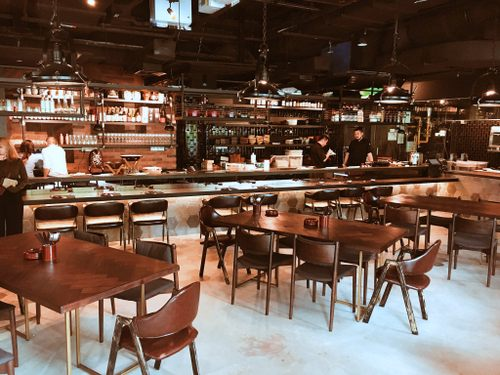 Cast Iron Japanese grill restaurant at DUO Galleria mall in Singapore.