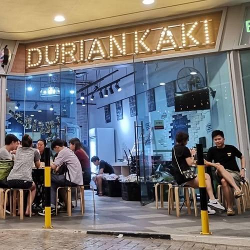 Durian Kaki shop in Singapore.