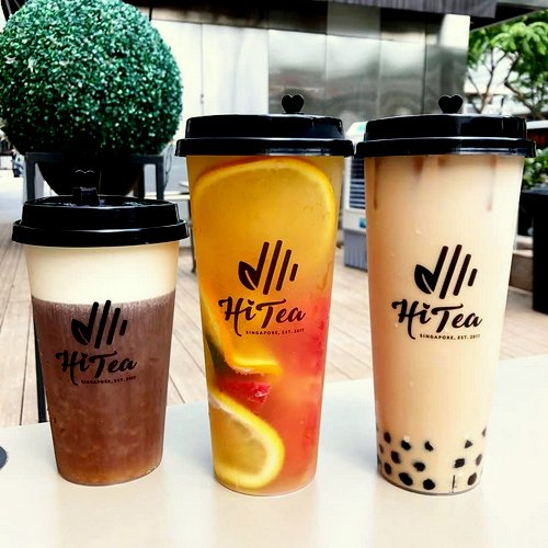 Hi Tea beverages, available in Singapore.