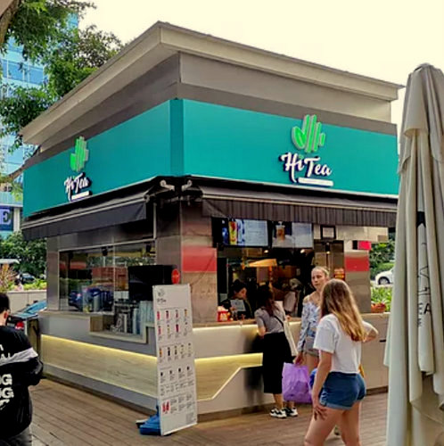 Hi Tea outlet at Far East Plaza mall in Singapore.