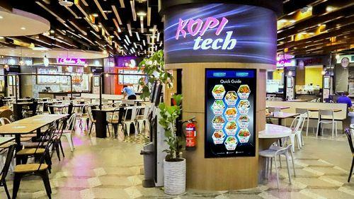 KOPItech food court at Funan shopping centre in Singapore.