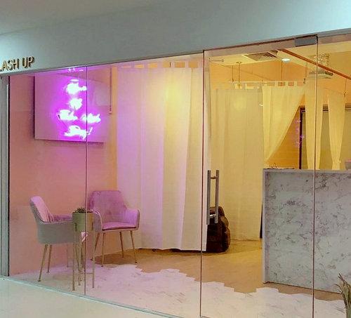 Lash Up beauty salon at Bugis Cube mall in Singapore.