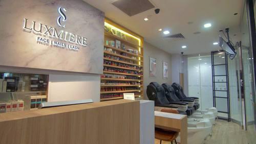 Luxmiere beauty salon at Plaza Singapura in Singapore.