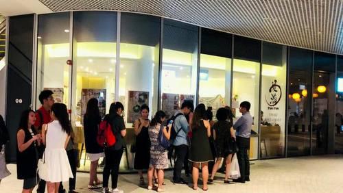 Man Man Japanese Unagi restaurant at DUO Galleria shopping centre in Singapore.