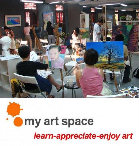 My Art Space art school in Singapore.