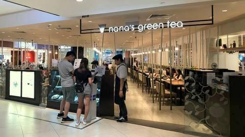 Nana's Green Tea Japanese tea room in Singapore.