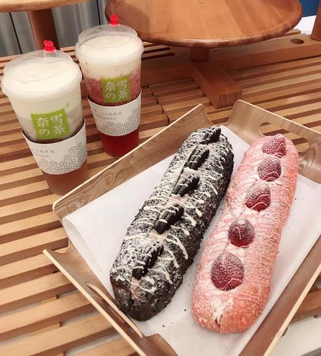 Nayuki fruit teas and soft euro bakes, available in Singapore.