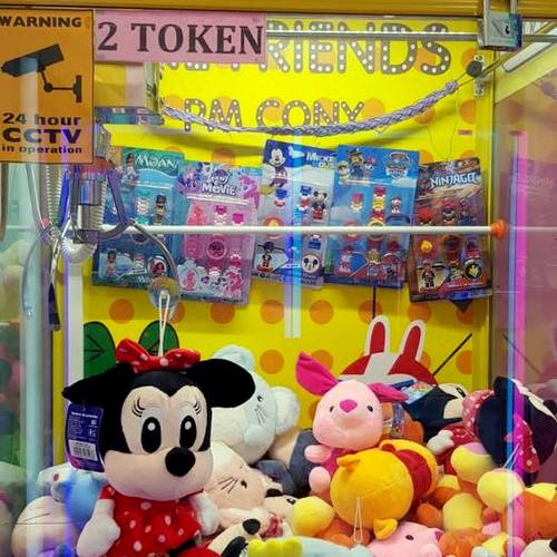 Ncho Toy claw machine game arcade in Singapore.