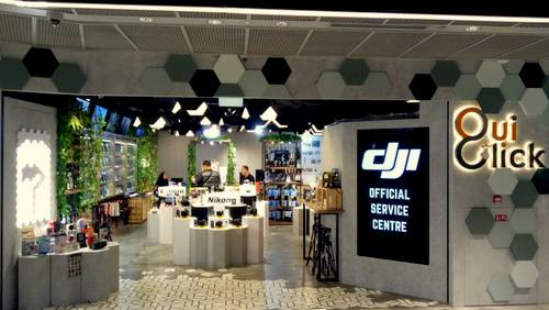 Oui Click store at Funan mall in Singapore.