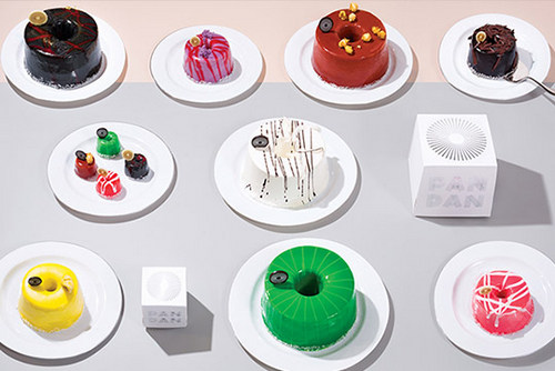 Pandan cakes, available in Singapore.