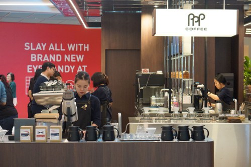 PPP Coffee shop at Funan mall in Singapore.