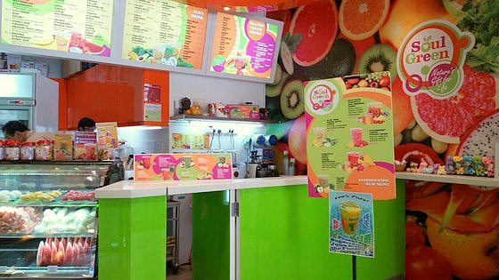Soul Green Eastpoint Mall - Fruit Juice Shop in Singapore.
