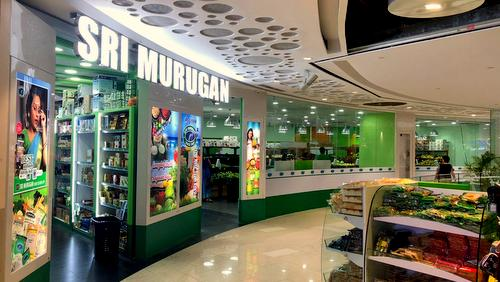 Sri Murugan Supermarket at Eastpoint Mall in Singapore.