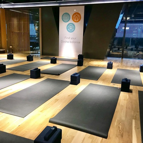Vega Yoga studio at OUE Downtown Gallery mall in Singapore.