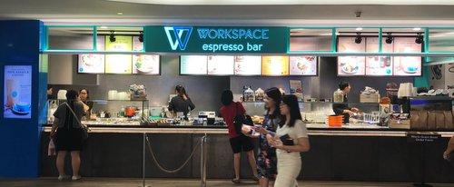 Workspace Espresso Bar at Velocity @ Novena Square mall in Singapore.