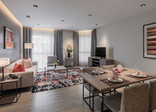 2 bedroom apartment at Le Grove Serviced Residences in Singapore.