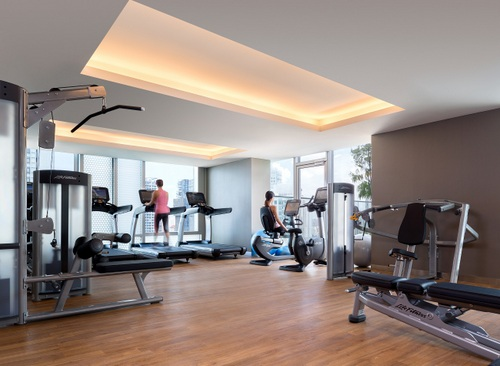 24-hour fitness centre at Hotel Jen Orchardgateway Singapore.