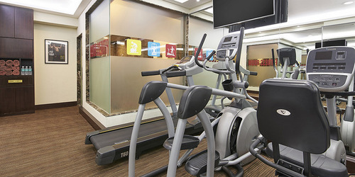24-hour gym at The Elizabeth Hotel Singapore.