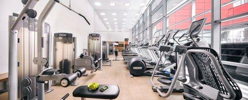 24-hour gymnasium at Royal Plaza on Scotts hotel in Singapore.