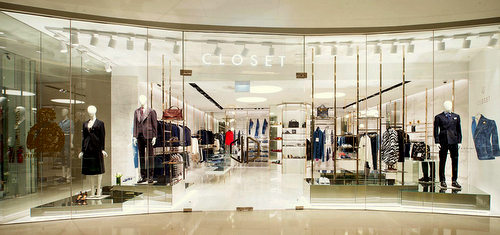 Closet clothing boutique at Scotts Square shopping mall in Singapore.
