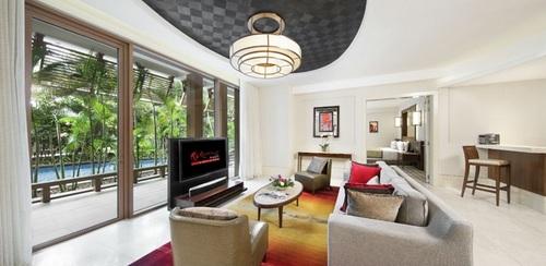 Deluxe Pool Suite at Resorts World Sentosa - Equarius Hotel in Singapore.