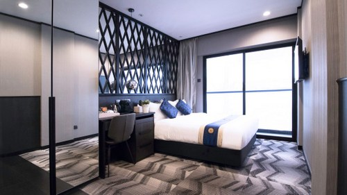 Deluxe Room at Hotel NuVe Urbane Singapore.