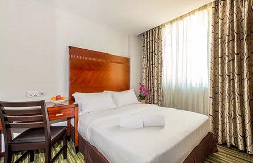 Deluxe room at Santa Grand Hotel West Coast Singapore.
