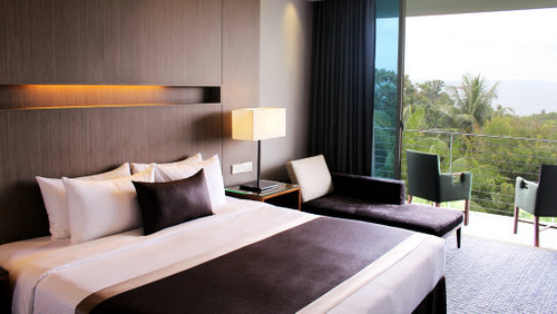 Deluxe room - sea view at Amara Sanctuary Resort Sentosa in Singapore.