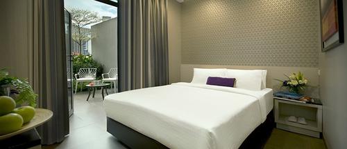 Deluxe room at V Hotel Bencoolen Singapore.