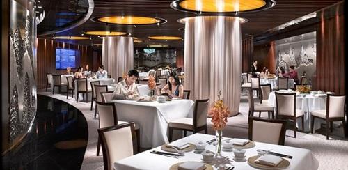 Feng Shui Inn restaurant at Crockfords Tower hotel in Singapore.