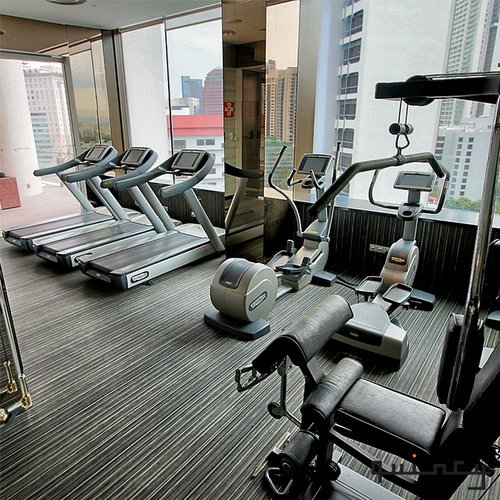Fitness centre at The Quincy Hotel in Singapore.