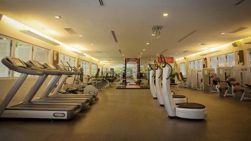 Fitness centre at Amara Sanctuary Resort Sentosa in Singapore.