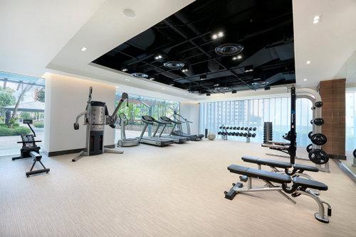 Fitness centre at Amara Singapore.