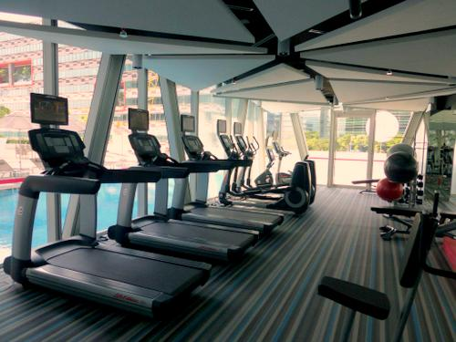Fitness centre at Capri by Fraser Changi City Singapore.