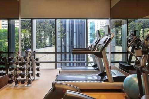 Fitness centre at Carlton City Hotel Singapore.