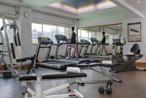 Fitness centre at Copthorne King's Hotel in Singapore.