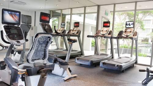 Fitness centre at Dorsett Singapore.