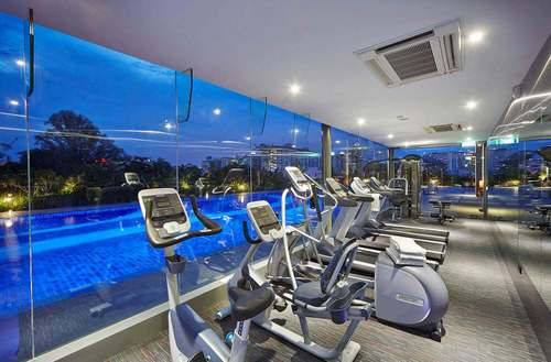 Fitness centre at Hotel Boss Singapore.
