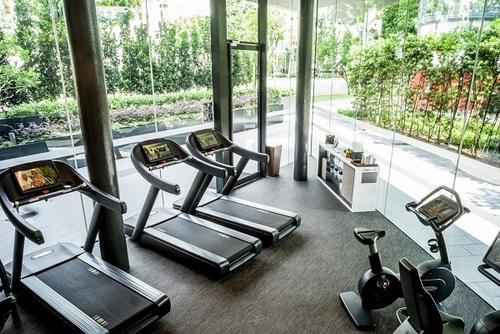 Fitness centre at InterContinental Singapore Robertson Quay hotel.