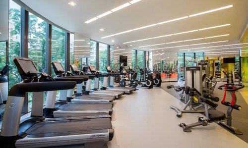 Fitness centre at Novotel Singapore on Stevens hotel.