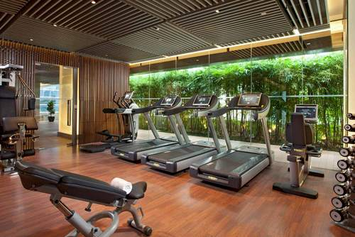 Fitness centre at Oasia Hotel Novena Singapore.